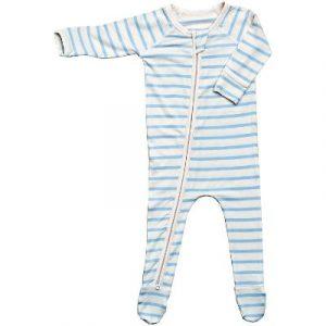Boody Baby Long Sleeve Onesie Sky Stripe, ecomauritius.mu