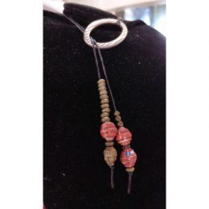 Boho Style Paperbeads Necklace - Orange-ecomauritius.mu