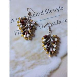 Handmade Paperbeads earrings-ecomauritius.mu