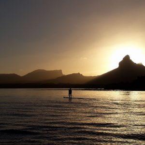 dawn, kayak, sea, ecomauritius.mu
