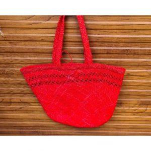 RED NATURAL FIBRE BAG ON ECOMAURITIUS.MU