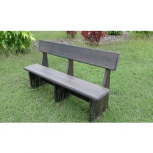 recycled plastic garden bench on ecomauritius.mu