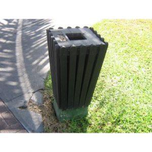 recycled plastic bin and ashtray on ecomauritius.mu