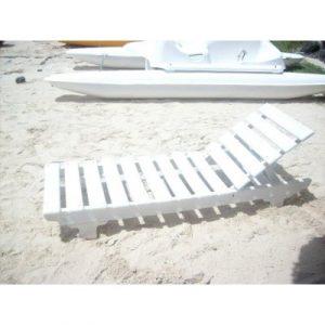 recycled plastic white sunbed on ecomauritius.mu