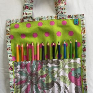 upcycled fabric art bag