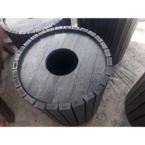 recycled plastic round bin on ecomauritius.mu