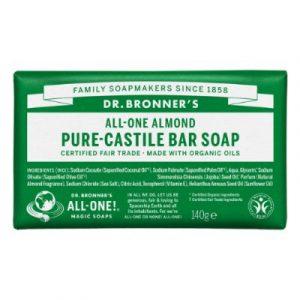 Dr bronner almond soap bar -ecomauritius.mu