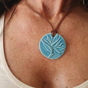 turquoise clay pendant on ecomauritius.mu