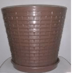 recycled brown plastic potplant on ecomauritius.mu