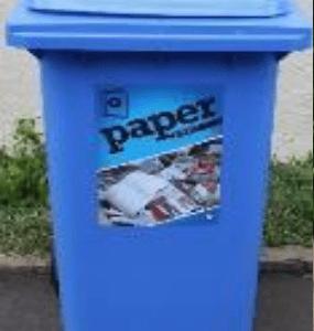 blue recycling bin on ecomauritius.mu