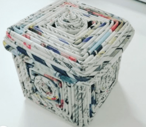 jewellery box made from recycled newspaper on ecomauritius.mu