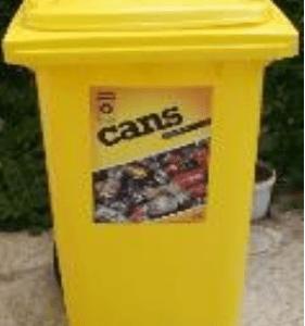 yellow recycling bin on ecomauritius.mu