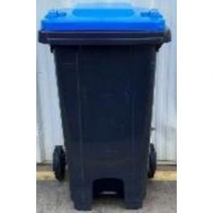 recycled plastic bin with blue lid on ecomauritius.mu