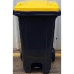 recycled bin with yellow lid on ecomauritius.mu