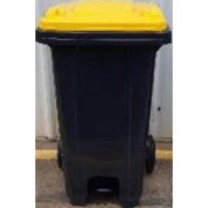 recycled bin with yellow lid on ecomauritius.mu