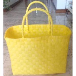 yellow recycled plastic basket on ecomauritius.mu